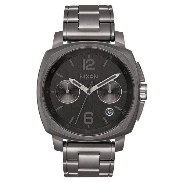 NIXON WATCH CHARGER CHRONO ALL GUNMETAL