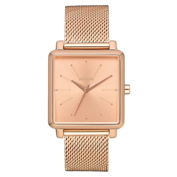 NIXON PULKSTENIS K SQUARED MILANESE ALL ROSE GOLD