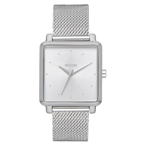 NIXON PULKSTENIS K SQUARED MILANESE ALL SILVER