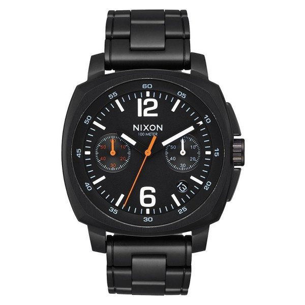 NIXON WATCH CHARGER CHRONO ALL BLACK