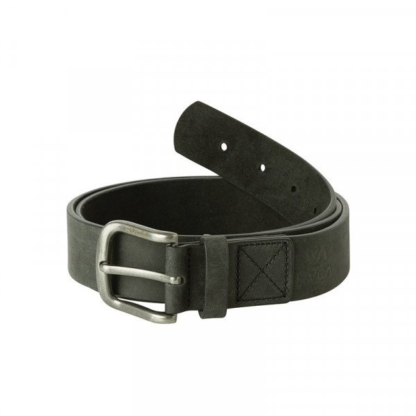 RVCA JOSTA TRUCE LEATHER BELT BLACK F18