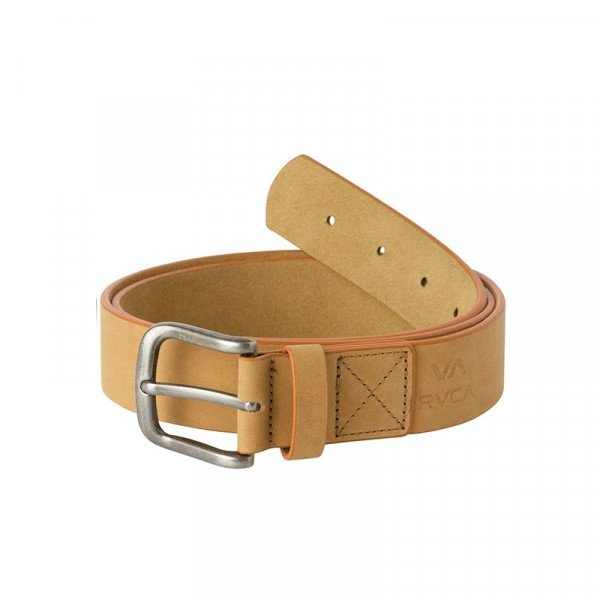 RVCA JOSTA TRUCE LEATHER BELT TAN F18