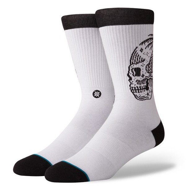 STANCE ZEĶES BLUE FOUNDATION SKULL PALM WHITE