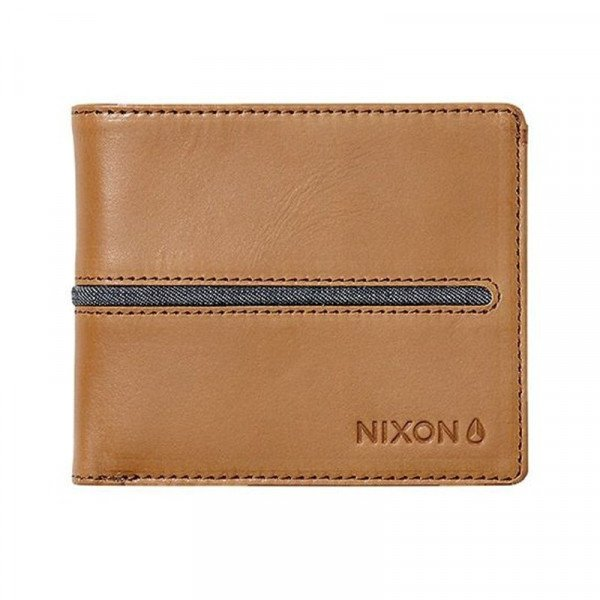 NIXON MAKS COASTAL SATELLITE BI-FOLD ID COIN TAN
