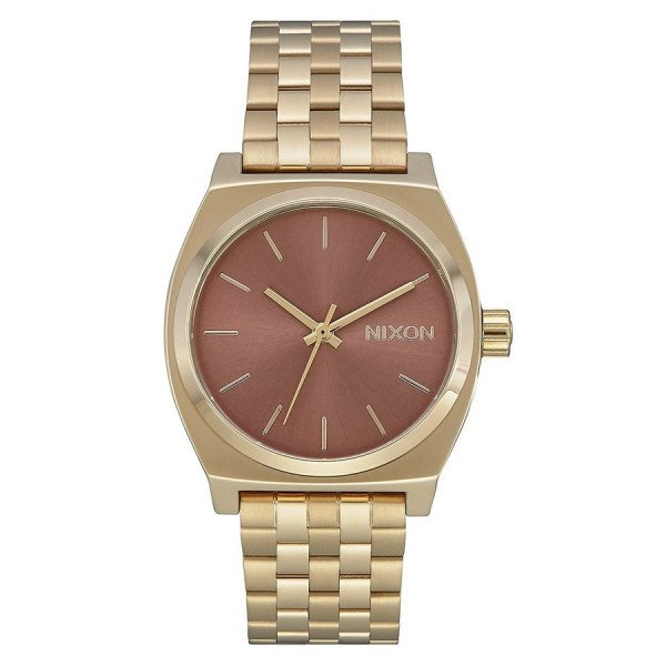 NIXON WATCH MEDIUM TIME TELLER LIGHT GOLD MARSALA