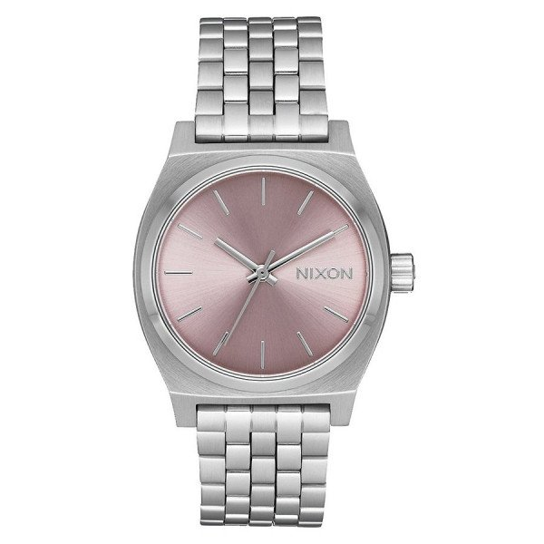 NIXON WATCH MEDIUM TIME TELLER SILVER PALE LAVENDER