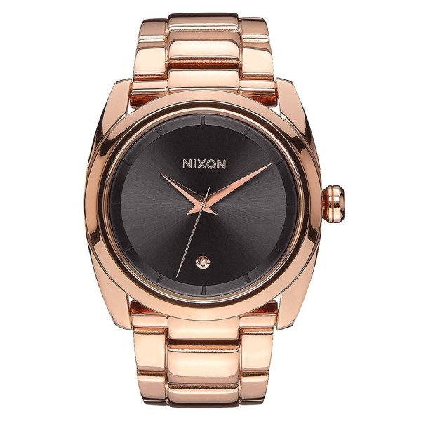 NIXON PULKSTENIS QUEENPIN ALL ROSE GOLD GUNMETAL
