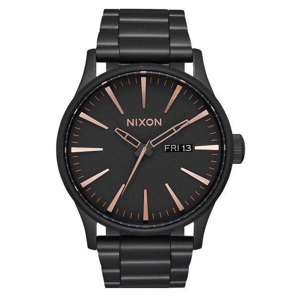NIXON WATCH SENTRY SS ALL BLACK ROSE GOLD