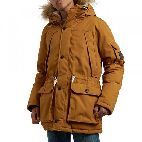 ELEMENT JAKA EXPLORER DOWN PARKA GOLD BROWN F18