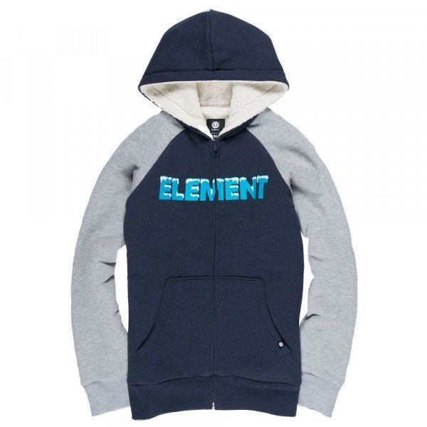 ELEMENT ZIP-HOOD SNOW SHERPA KIDS ECLIPSE NAVY F18