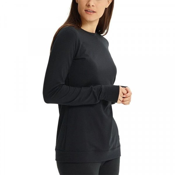 BURTON BASE LAYER WB MDWT CREW TRUE BLACK W18