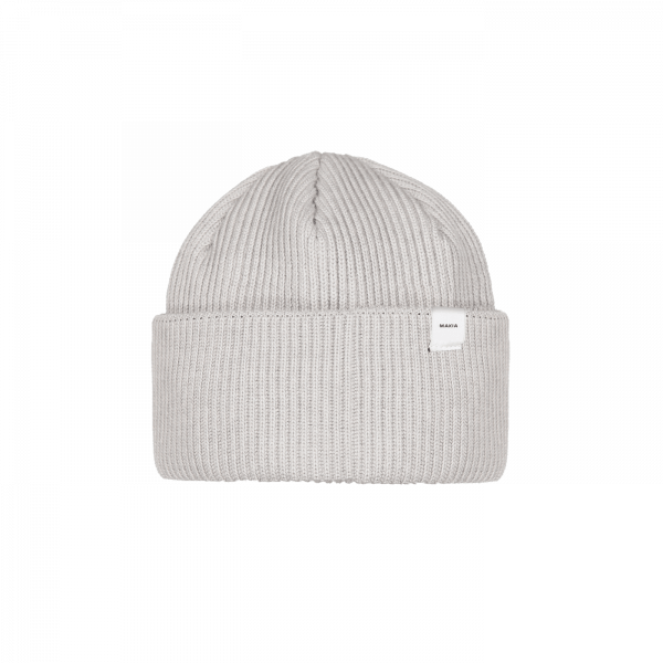 MAKIA CEPURE MERINO CAP LIGHT GREY F18