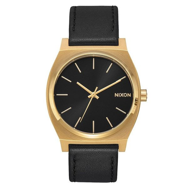 NIXON WATCH TIME TELLER GOLD BLACK BLACK
