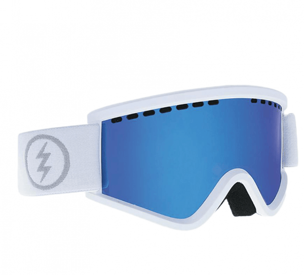 ELECTRIC GOGGLES EGV.K MATTE WHITE BROSE BLUE CHROME