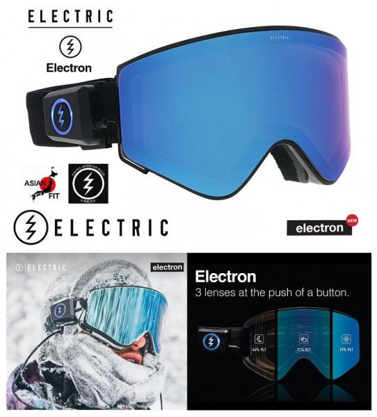 ELECTRIC BRILLES ELECTRON BLACK BLUE CHROME