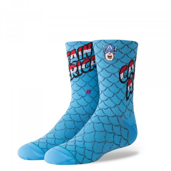 STANCE ZEĶES CAPTAIN AMERICA KIDS BLUE