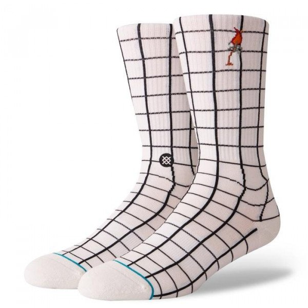 STANCE SOCKS BLUE FOUNDATION NETWORK WHITE