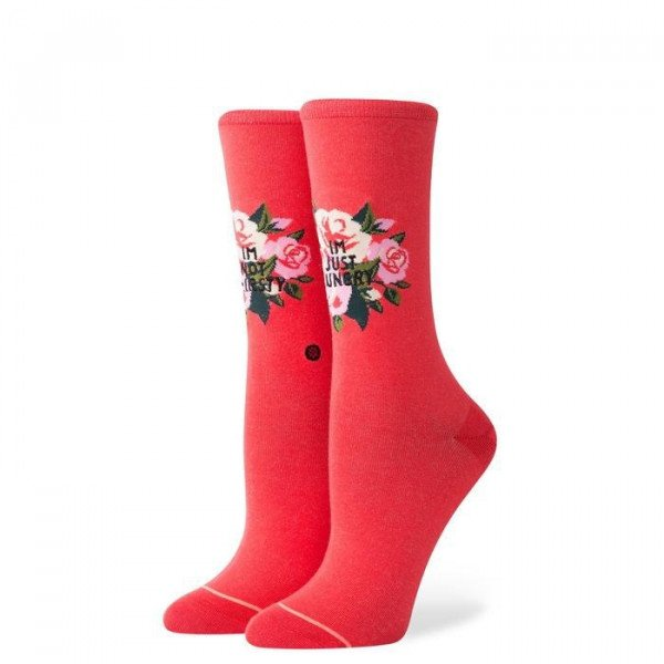 STANCE ZEĶES FOUNDATION WOMEN NOT THIRSTY CREW RED