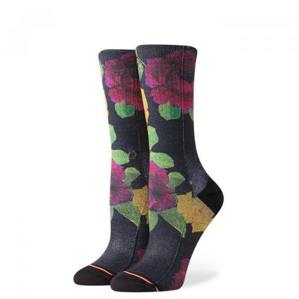 STANCE ZEĶES FOUNDATION WOMEN EVENING STAR CREW BLACK
