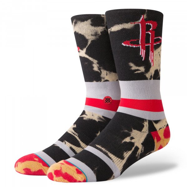STANCE ZEĶES NBA ARENA ROCKETS ACID WASH RED