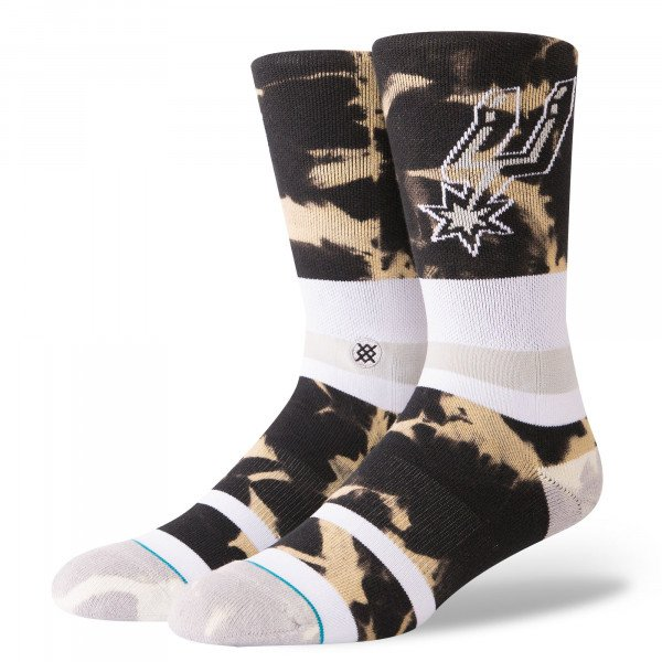 STANCE ZEĶES NBA ARENA SPURS ACID WASH BLACK