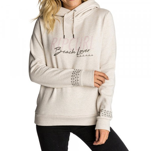 RIP CURL HOOD BEACH LOVER HOODED ECRU MARLE F18