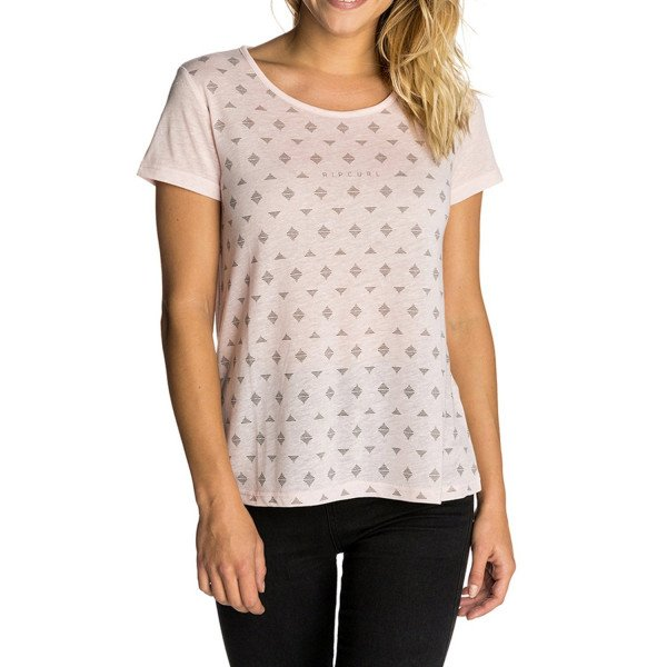 RIP CURL T-SHIRT MICRO TEE CRYSTAL PINK F18