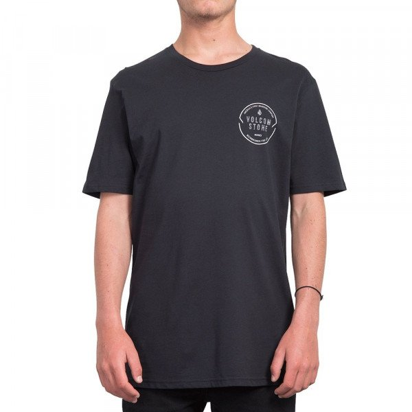 VOLCOM T-SHIRT CHOP AROUND BSC SS BLK S19