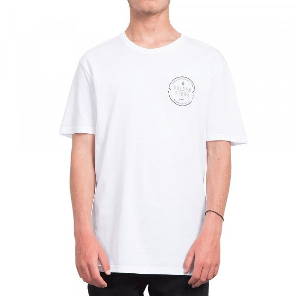 VOLCOM T-SHIRT CHOP AROUND BSC SS WHT S19