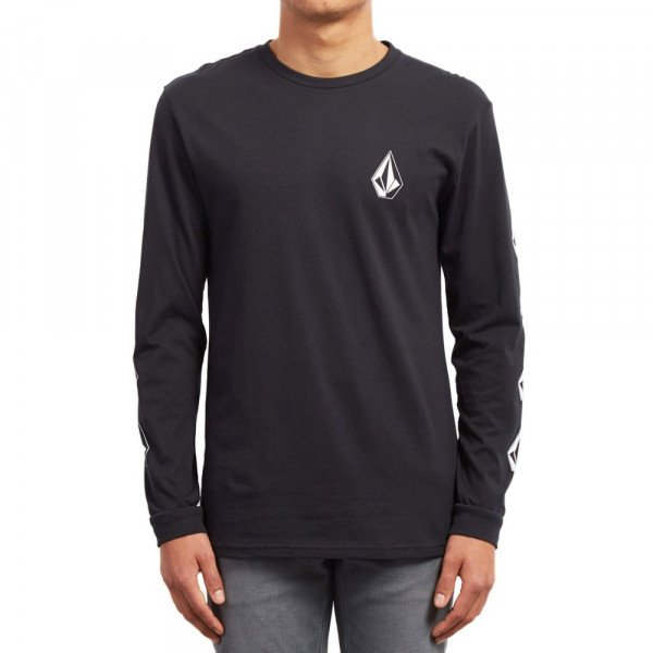 VOLCOM T-SHIRT DEADLY STONE BSC LS BLK S19