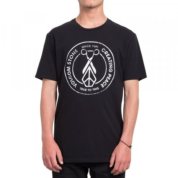 VOLCOM T-SHIRT PEACE SCISSORS LTW S BLK S19