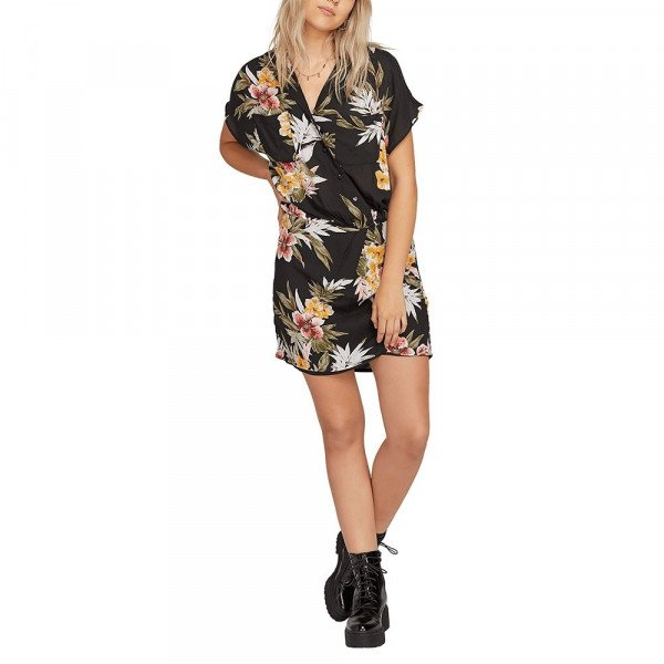 VOLCOM KLEITA RAG'N FLOWER DRESS BLC S19