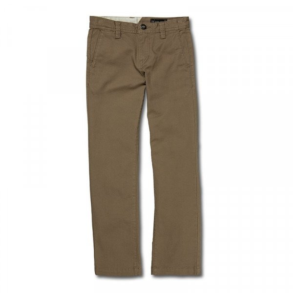 VOLCOM PANTS FRICKIN REGULAR KIDS KHA S19