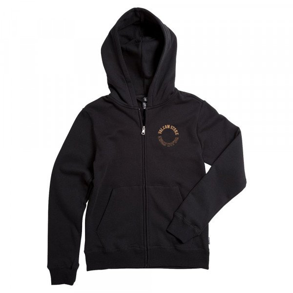 VOLCOM ZIP-HOOD SUPPLY STONE ZIP KIDS BKO S19