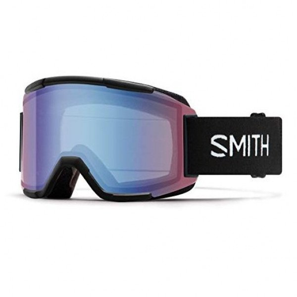 SMITH BRILLES SQUAD BLACK BLUE SENSOR MIRROR W18