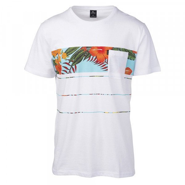 RIP CURL T-SHIRT SQUAD BLOCK SS OPTICAL WHITE S19