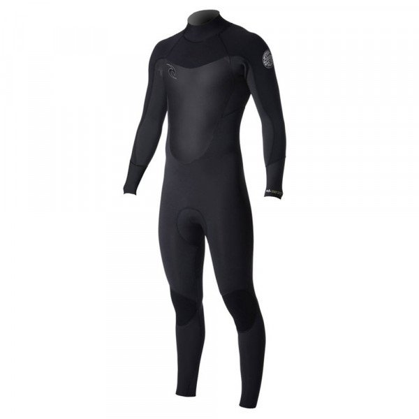 RIP CURL WETSUIT DAWN PATROL 53 BACK ZIP BLACK S19