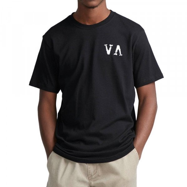 RVCA T-SHIRT STEALTH IRONS BLACK S19