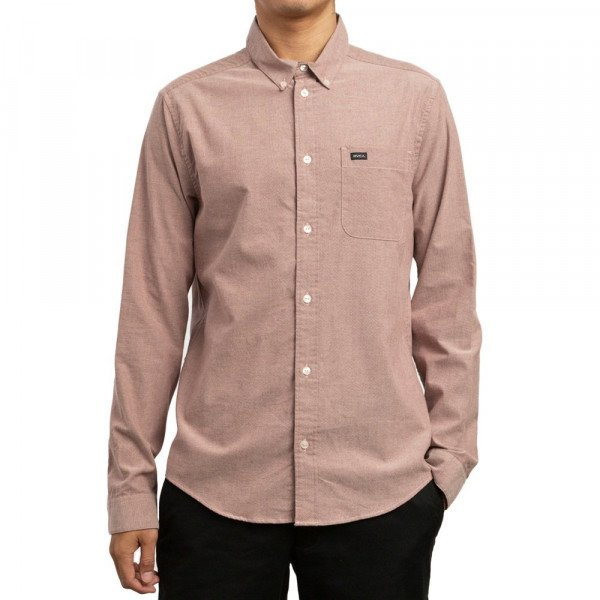 RVCA KREKLS THATLL DO STRETCH LS BORDEAUX S19