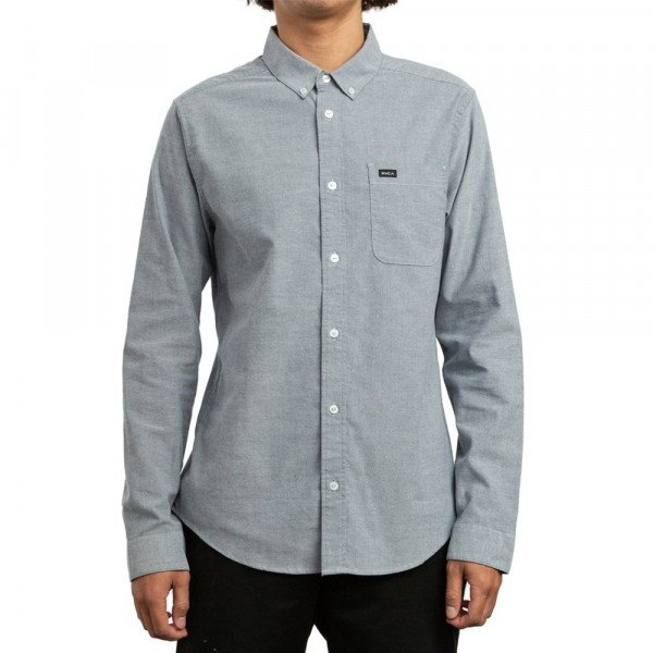 RVCA KREKLS THATLL DO STRETCH LS DISTANT BLUE S19