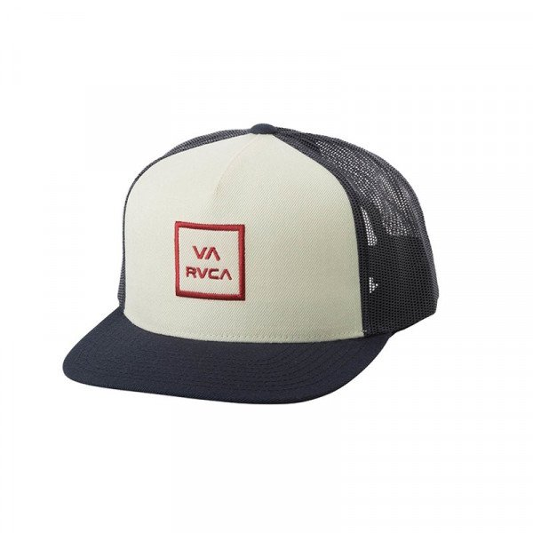 RVCA CEPURE VA ALL THE WAY TRUCKER WHITE NAVY S19