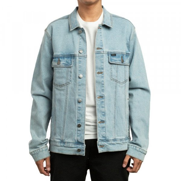 RVCA JAKA DAGGERS DENIM JACKET ORIGINAL BLEACH S19