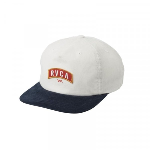 RVCA HAT  EVERETT SNAPBACK WHITE NAVY S19