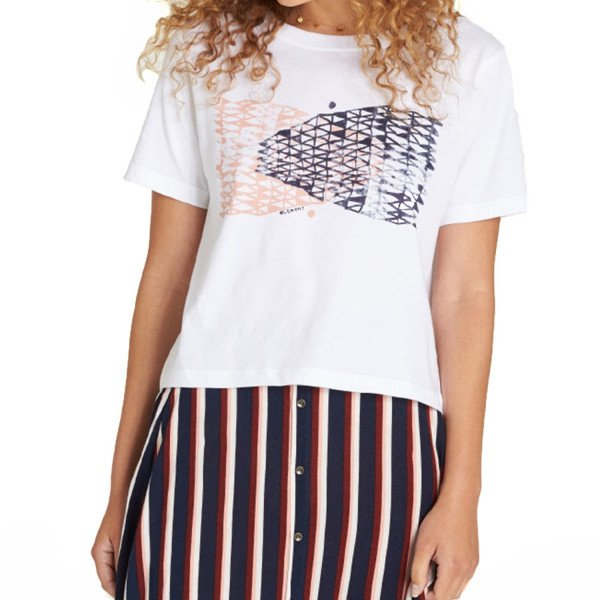 ELEMENT T-SHIRT NET CROP SS WHITE S19