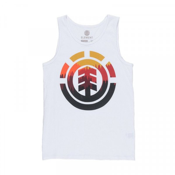 ELEMENT TOPS GLIMPSE ICON SINGLET KIDS WHITE S19