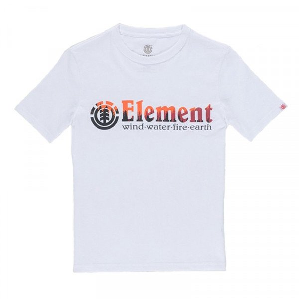 ELEMENT T-SHIRT GLIMPSE HORIZONTAL KIDS OPTIC WHITE S19