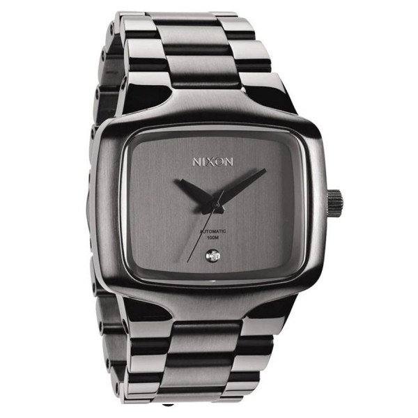 NIXON PULKSTENIS PLAYER AUTOMATIC XL GUNMETAL
