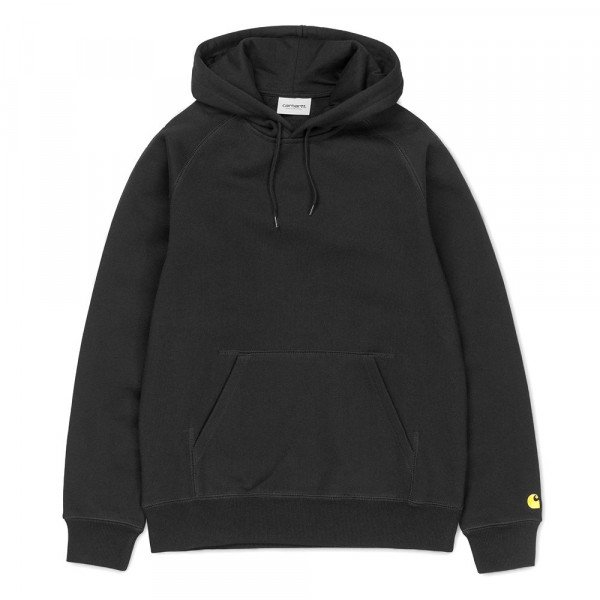 CARHARTT HOOD W HOODED CHASE SWEAT BLACK GOLD S19