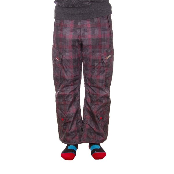 FOURSQUARE PANTS B1 BOSS BOYS BLACK RIP PLAID W09/10
