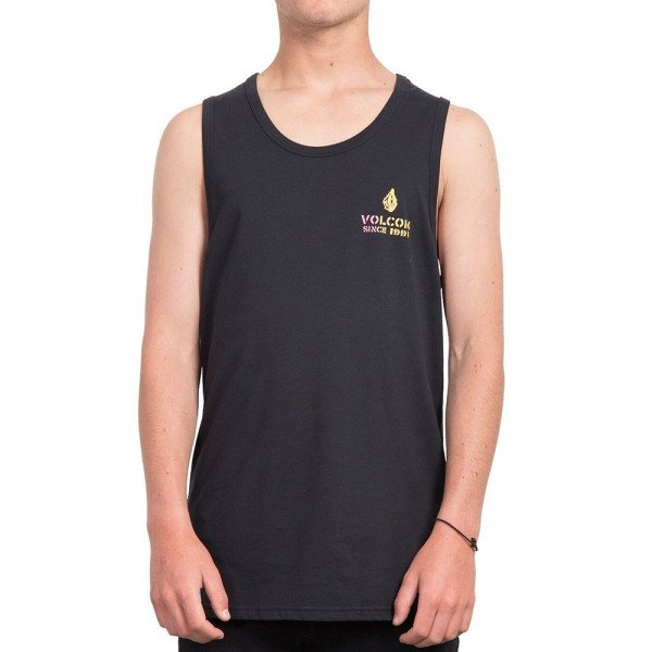 VOLCOM TOPS PEACE IS PROGRESS BSC BLK S19